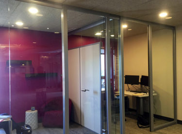 "Nxtwall Glass ""Office View"" series wall system."