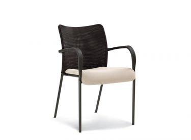 HighMark Team Up Mesh Back Upholstered Seat with Arms