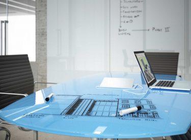 "Clarus ""Tops"" Table Top Glassboard"
