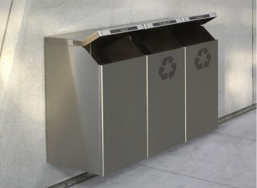 "Peter Pepper ""Timo Square"" Trash & Recycling Receptacle"